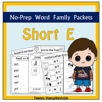 CVC Short E Word Families