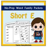 CVC Short E Word Families