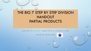 The Big 7 Step by Step Division Handout