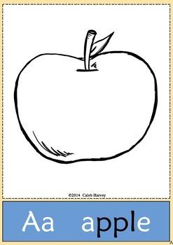 The Big Alphabet Book for Coloring - USA - Freebie