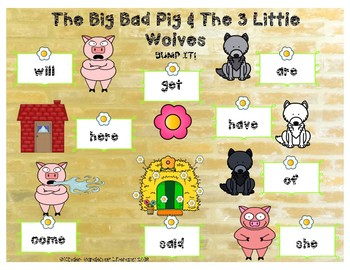 The Big Bad Pig and 3 Little Wolves-BUMP IT