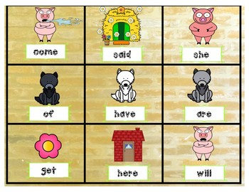 Sight Words-The Big Bad Pig and 3 Little Wolves-BUMP IT