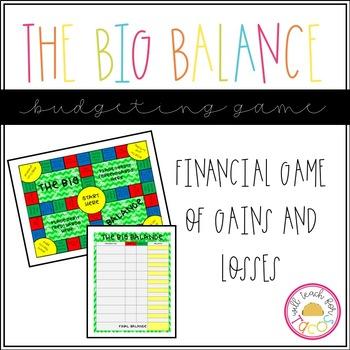The Big Balance- Financial Literacy Board Game
