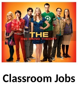 The Big Bang Theory Classroom Jobs - EDITABLE