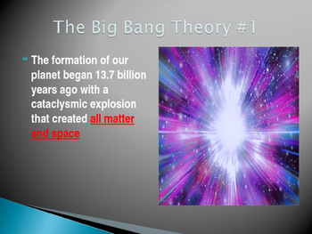 The Big Bang and the Nebular Hypothesis Power Point Presentation