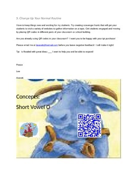 The Big Blue Ox  Concepts with Q.R.Codes