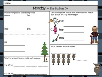 The Big Blue Ox Homework - Scott Foresman