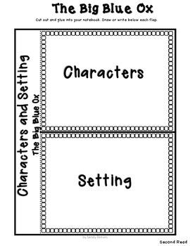 The Big Blue Ox Reading Street {Close Reading} 1st Grade Unit 1 Story 3 CCSS