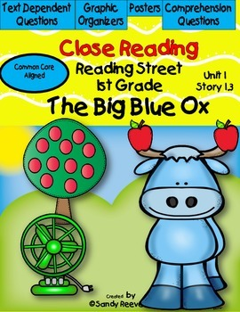 The Big Blue Ox Reading Street {Close Reading} 1st Grade U
