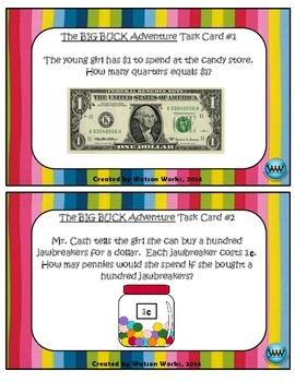 The Big Buck Adventure Counting Money Task Cards