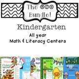 The Big Bundle Kindergarten Math & Literacy Centers for the Year