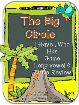 The Big Circle- I Have Who Has Game