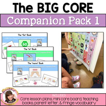 The Big Core Vocabulary Companion Pack 1 for Special Education & Autism