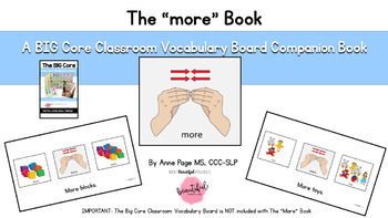 The Big Core Vocabulary Companion Pack 1: Low Tech AAC for Special Ed & Autism