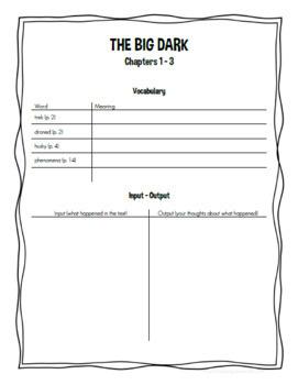 The Big Dark by Rodman Philbrick Novel Study/Literature Circle Guide