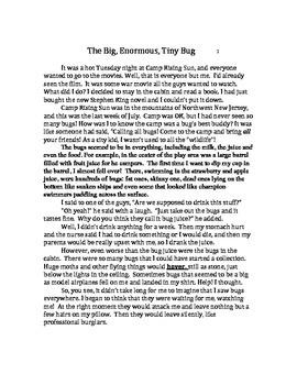 The Big, Enormous, Tiny Bug