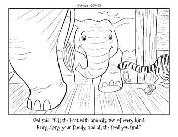 The Big Flood-Noah's Ark Coloring Book