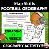 FREE Football Game Geography Worksheet Activity