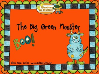 The Big Green Monster - A Halloween Adjective Story