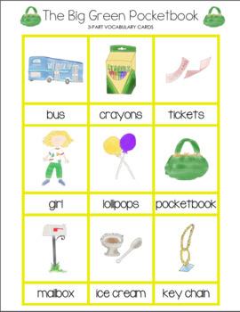 The Big Green Pocketbook 3-Part Vocabulary Cards