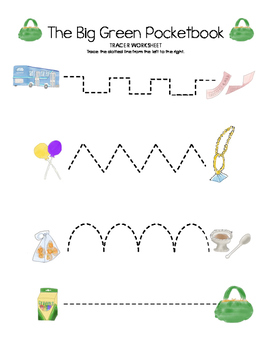 The Big Green Pocketbook Tracer Worksheet (Multiple Lines)