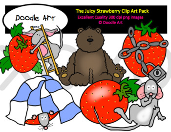 The Big Strawberry Clipart Pack