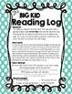 The Big Kid Reading Log