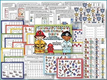 The Big Math Stations Galore Bundle-14 Differentiated/Aligned Units