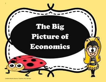 The Big Picture of Economics ( Reading Wonders 4th Grade) - Tri-Folds+Activities