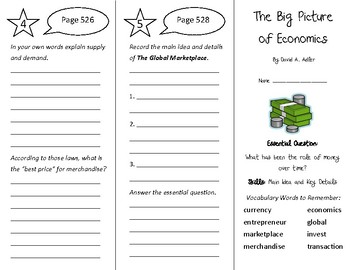 The Big Picture of Economics Trifold - Wonders 4th Grade Unit 6 Week 4