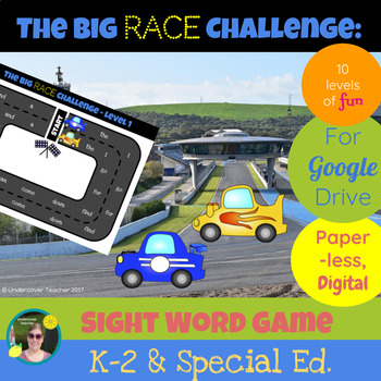 The Big Race Challenge Sight Word Game - Paperless, Digital