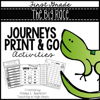 The Big Race First Grade Journeys Print and Go Activities
