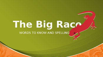 The Big Race- Lesson 14 Spelling & Words to Know