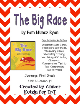 The Big Race Supplemental Activities 1st Grade Journeys Unit 3, Lesson 14