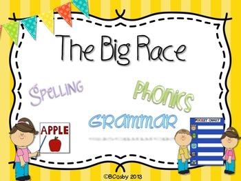 The Big Race {spelling, grammar, and phonics practice}