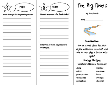 The Big Rivers Trifold - Imagine It 6th Grade Unit 5 Week 4