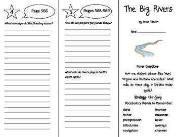 The Big Rivers Trifold - Imagine It 6th Grade Unit 5 Week 4