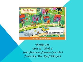 """The Big Top"" (Instructional Guide for Unit R, Week 4 Reading Street 2013)"