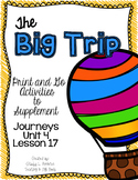 The Big Trip First Grade Journeys Print and Go Activities