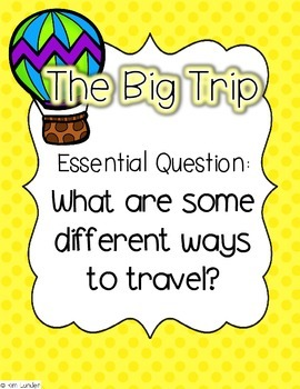 The Big Trip Journeys First Grade Supplmental Materials and Lesson Plans