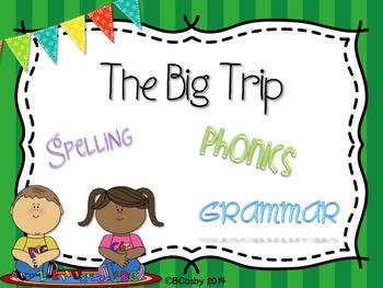 The Big Trip {spelling, grammar, and phonics practice}