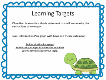 Teach Prompt Writing: Informative Essay Time for Kids Big Turtle Comeback