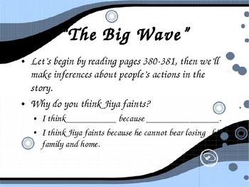 """""""The Big Wave"""" - Making Inferences - Open Court Reading"""