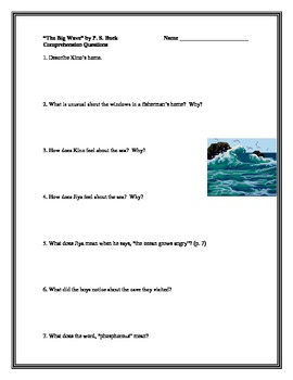 """""""The Big Wave"""", by Pearl Buck, Comprehension Questions"""