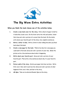 The Big Wave by Pearl S. Buck Comprehension Packet