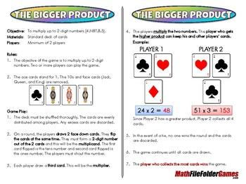 The Bigger Product - 4th Grade Game [CCSS 4.NBT.B.5].