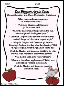 The Biggest Apple Ever ~ A Book Unit For September & Back To School