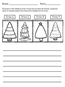 The Biggest Christmas Tree Ever- Graphic Organizer Pack