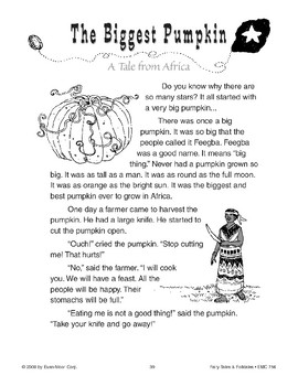 The Biggest Pumpkin (A Tale from Africa)
