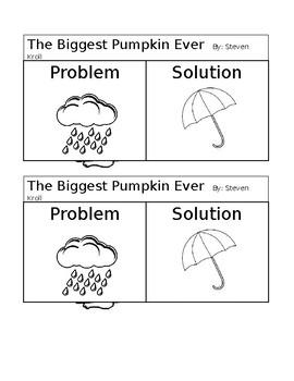 The Biggest Pumpkin Ever Interactive Notebook